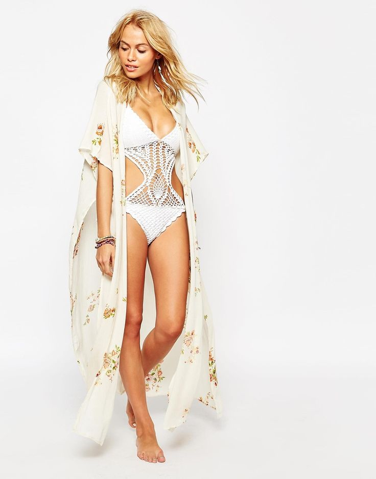 Image 1 of Surf Gypsy Floral Beach Duster