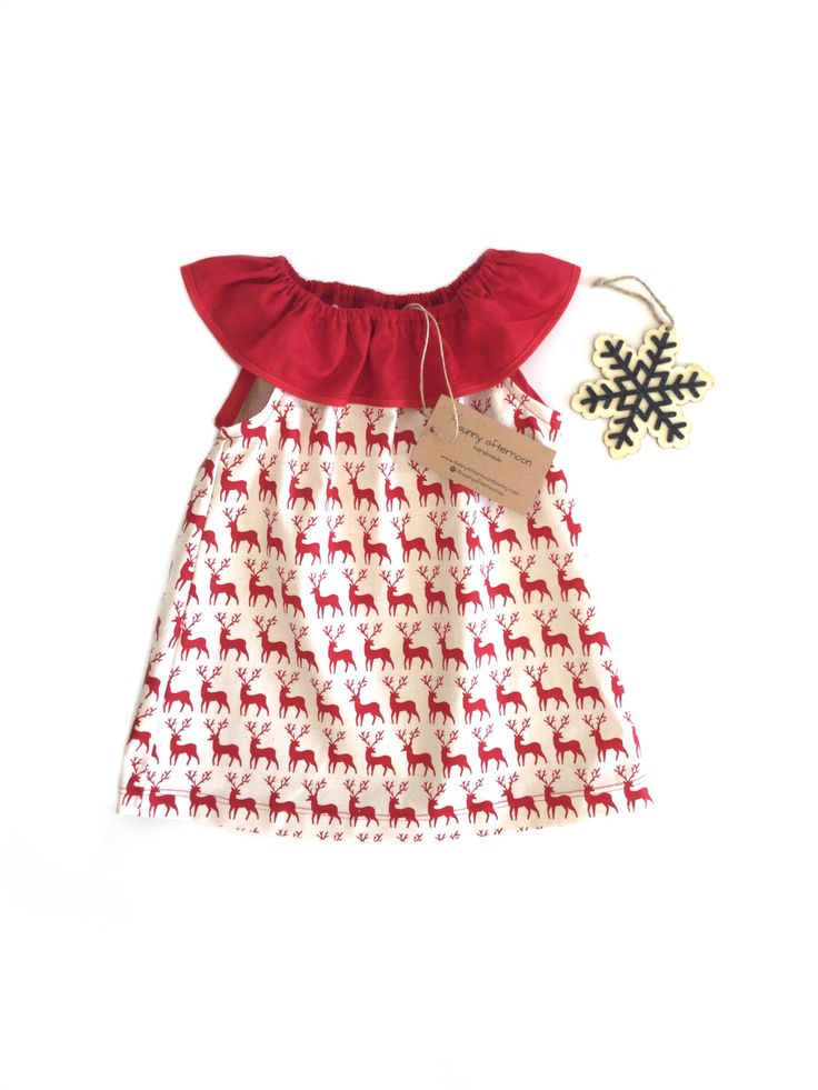 Christmas dress, baby girl xmas dress, baby girl christmas outfit, toddler girl christmas outfit, red deers ruffle neck - NB - 4 by SunnyAfternoonAU on Etsy https://www.etsy.com/listing/485671437/christmas-dress-baby-girl-xmas-dress