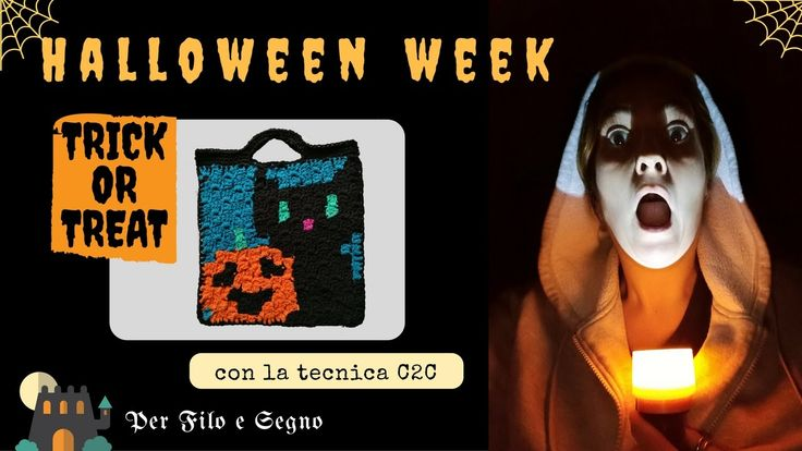 Speciale Halloween - Dolcetto o scherzetto? #halloween #halloween crochet #bag crochet #corner2corner #c2c #trick or treat #halloween cat #per filo e segno #pumpkin #video tutorial #video youtube #youtube #video ita