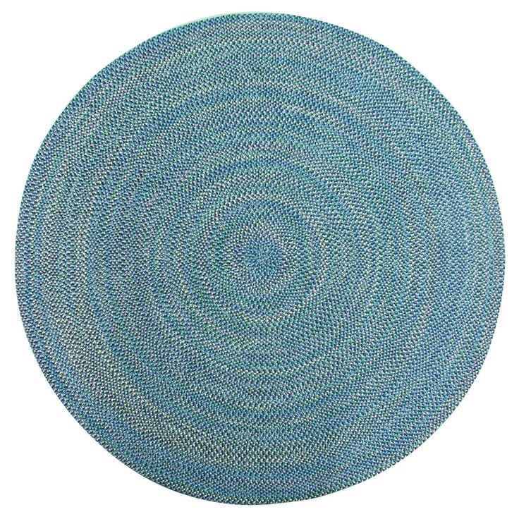 Used Oval Braided Rugs: Brookline Multi Color Indoor/ Outdoor Braided Rug (8