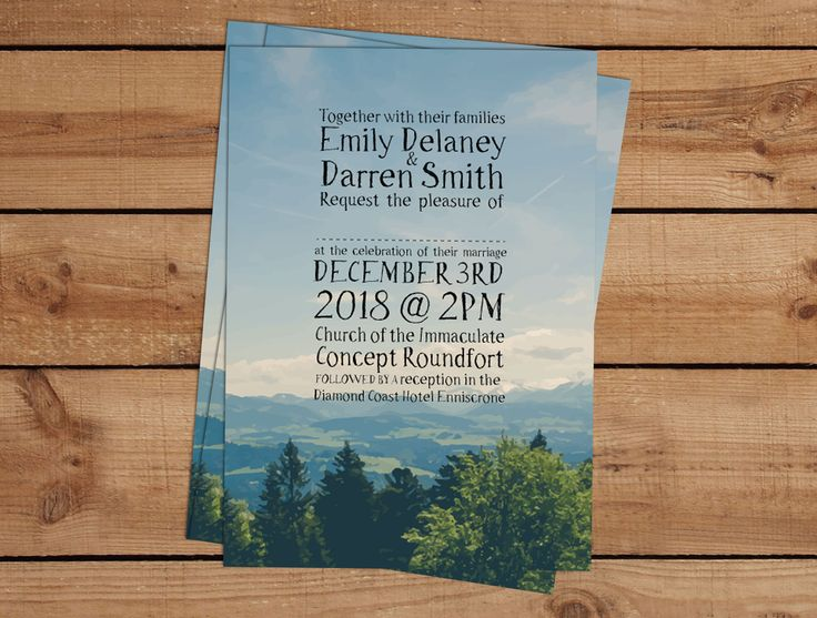 Winter Landscape Wedding InvitationsWedding Invitations to start your exciting adventure together