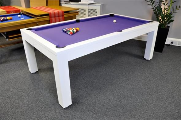 Signature Hawkes Pool Dining Table High Gloss White 7ft Pool