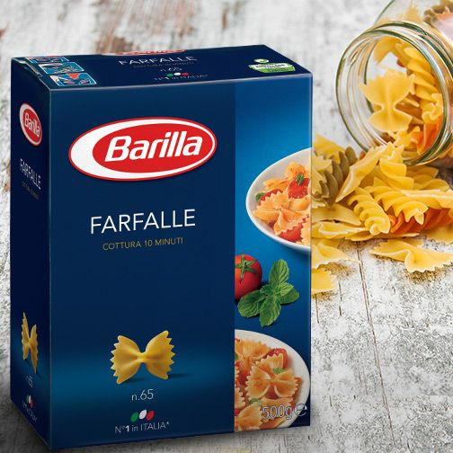 Playfully called the 'bow-tie' pasta, thanks to its unique shape, this all-time favourite delightfully pairs up with cream as well as tomato sauces, and you don't need to wait for a bow-tie occasion to enjoy it either. But if wearing the tie makes you any happier, go for it.