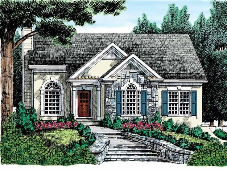 Best Cottage Plans Images On Pinterest Small Houses Small - Small cottage home plans