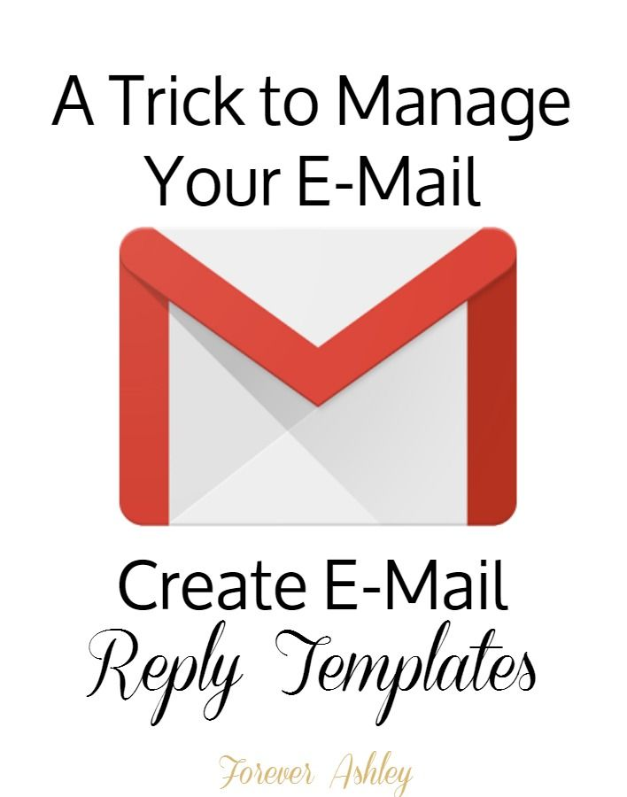 Manage your Gmail messages by creating reply templates