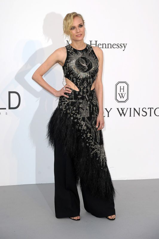 Diane Kruger w kreacji Alexander McQueen na gali amfAR