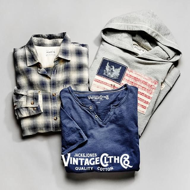 Hoodies, shirts and tops... JACK & JONES VINTAGE CLOTHING has all the items suitable for you.