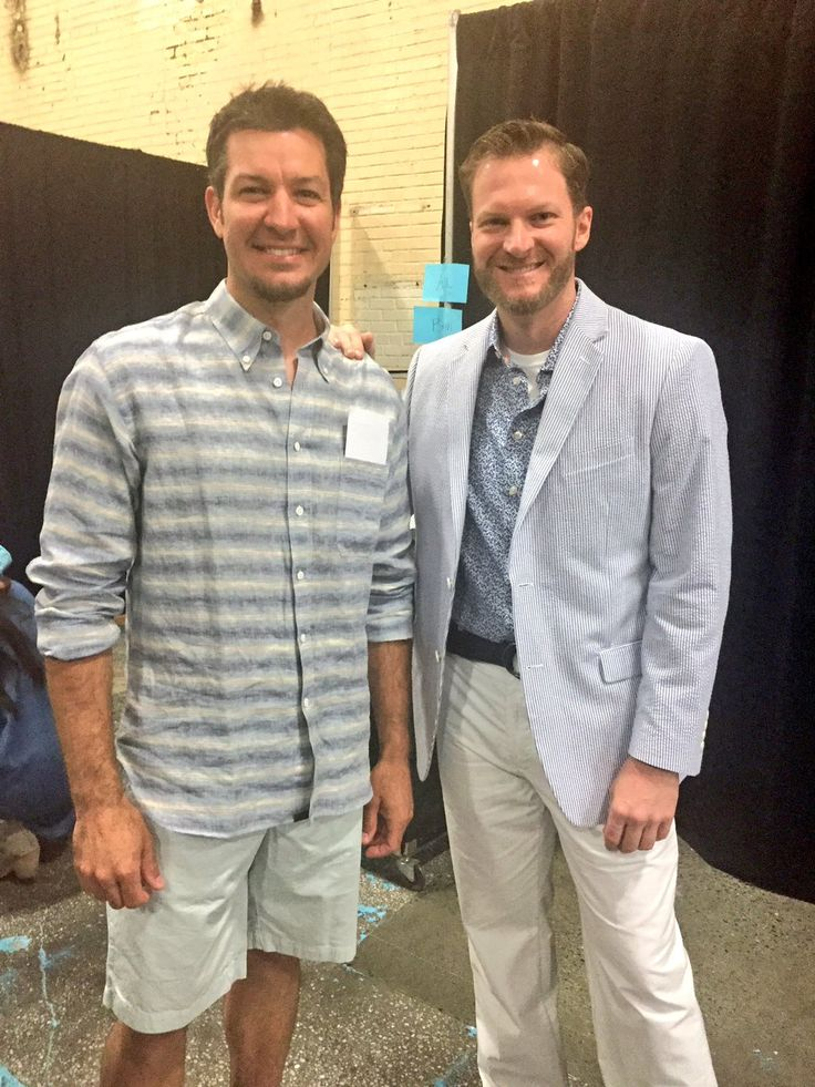 Martin Truex Jr. & Dale Jr. at MTJF Catwalk for a Cause, 2016