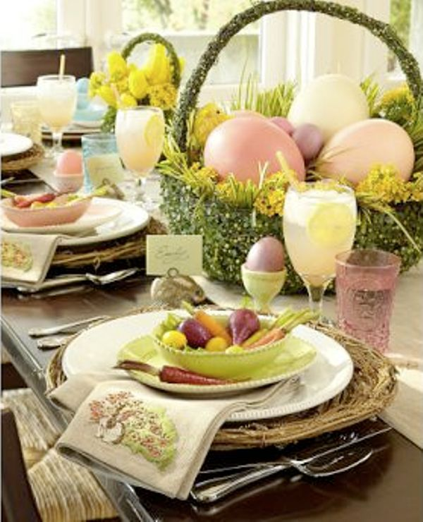 40 Easter Table Décor Ideas To Make This Family Holiday Special | DigsDigs & 61 best Easter Tablescapes images on Pinterest | Easter decor Table ...