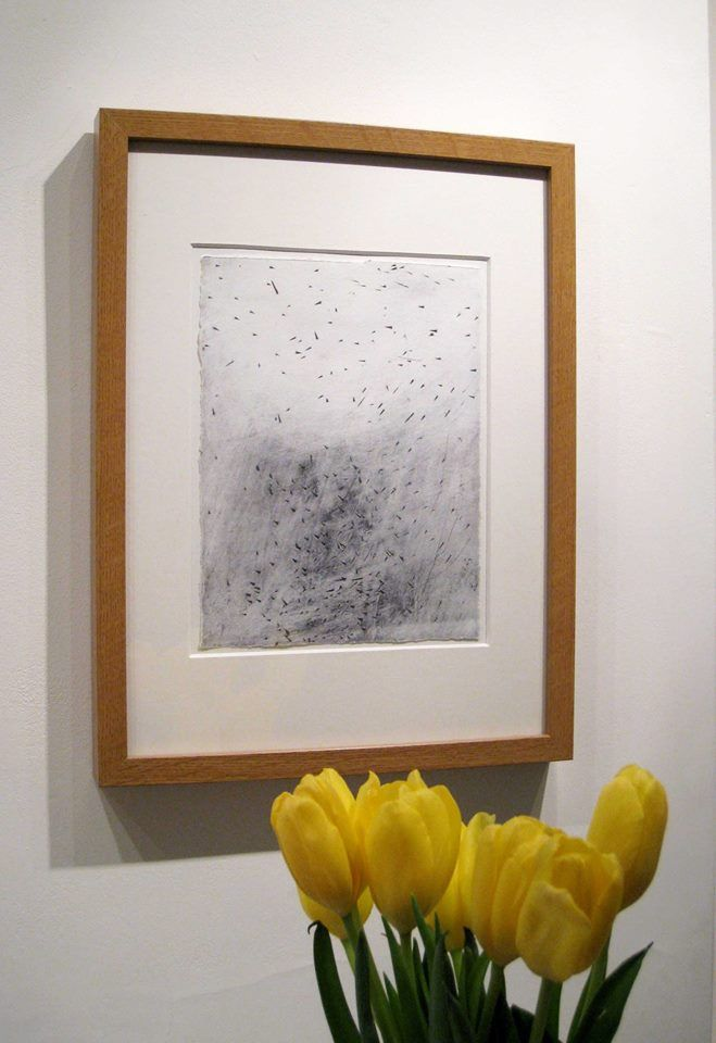 Helen Booth and yellow tulips | Quercus Gallery
