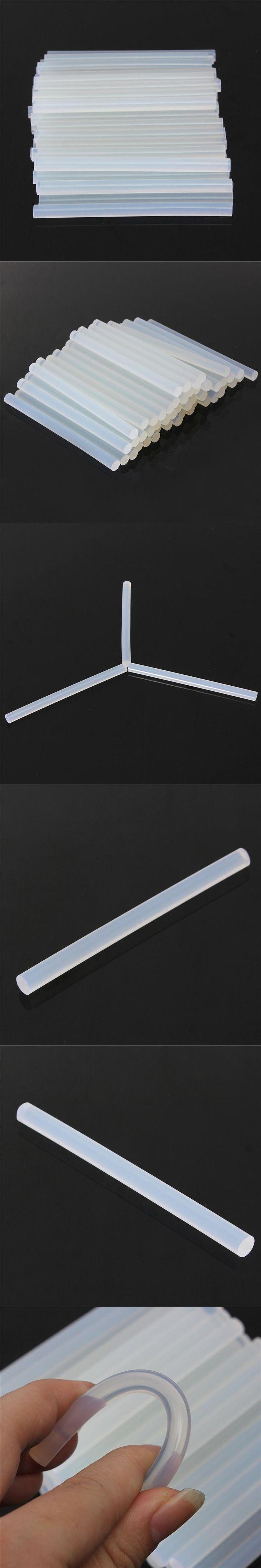 Hot Melt Glue sticks 7mmx100mm Clear Glue Adhesive Sticks For for Glue Car Audio Craft Alloy Accessories  10 Pcs Per Set