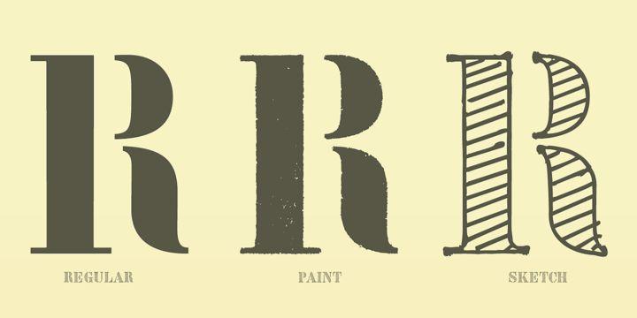 Vtg Stencil Germany No1™ - Desktop font « MyFonts