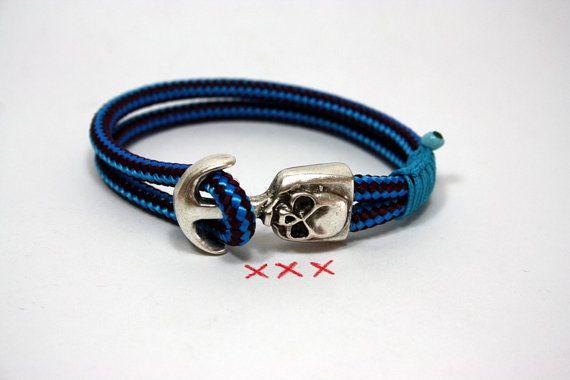 nautical skull braceletskull jewelrygoth jewelrymaritime by Yalos