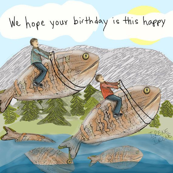Birthday Card for Men Birthday Card for Husband by IreneIreneArt, $3.75