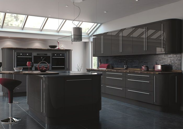 While There Are Many Colors For You To Choose For Your #kitchen, The One. High  Gloss Kitchen DoorsGrey ...