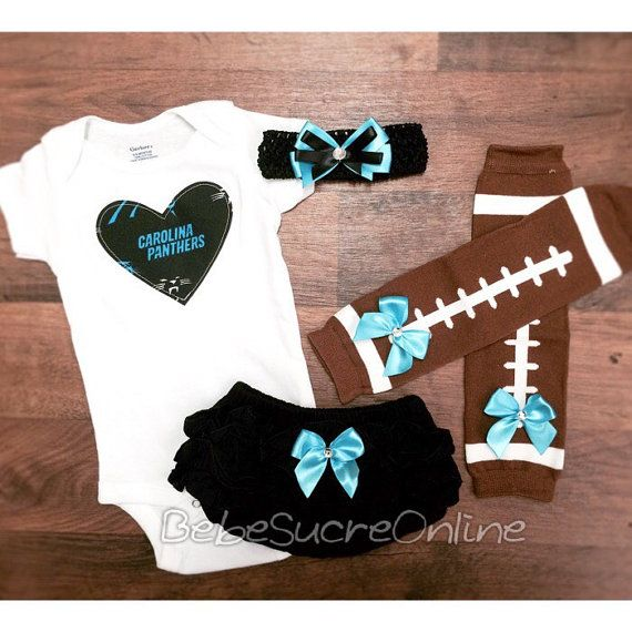 Carolina Panthers Game Day Outfit by BebeSucreOnline on Etsy