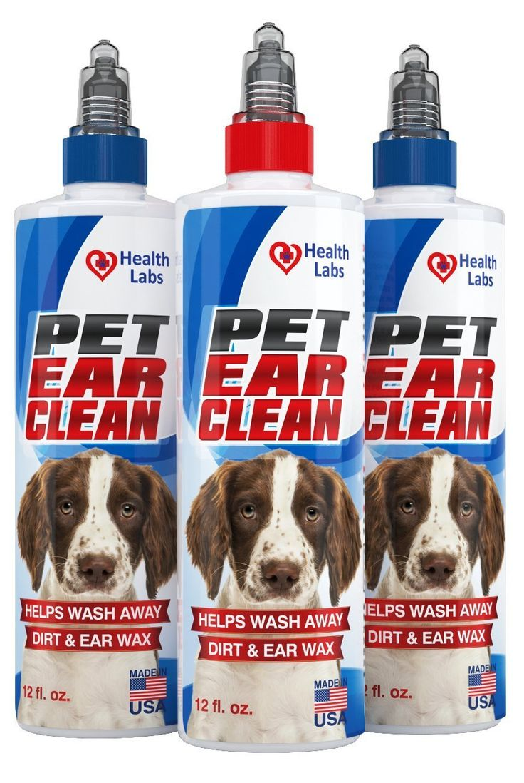 12oz ear wax cleaner solution for dog and cat stop