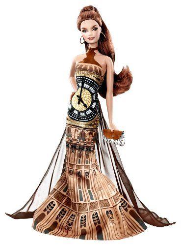 Barbie Pink Label Collector Dolls of the World Big Ben Doll Mattel...