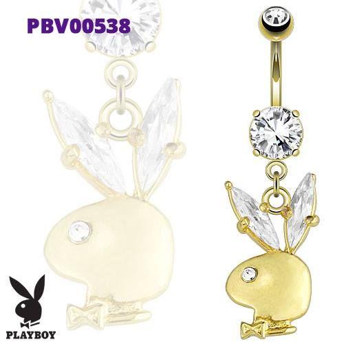 Pozlacený piercing do pupíku PBV00538 s motivem playboye. Piercing je vyrobený z chirurgické oceli 316l. http://www.piercingate.cz/piercing-do-pupiku-playboy-pbv00538