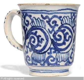 DELFT,BLUE AND WHITE COFFEE-CUP 1720 Christie's,London