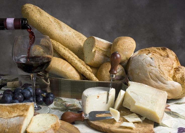 don't forget your pile of rustic breads to go with your cheese