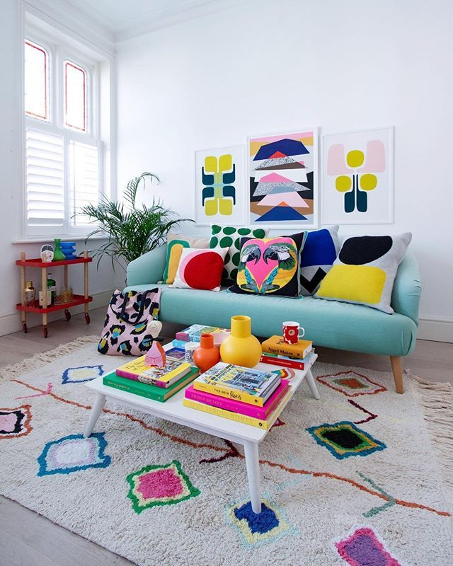 Washable Rug Kaarol Lorena Canals Colourful Living Room Decor Colourful Living Room Decor Littlebigbell style kid39s room on