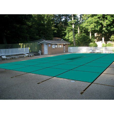 Water Warden Safety Solid Pool Cover for In Ground Pool, Green
