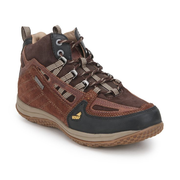 Push the limits through any weather and challenge any terrain with these  Reddish Brown hiking shoes