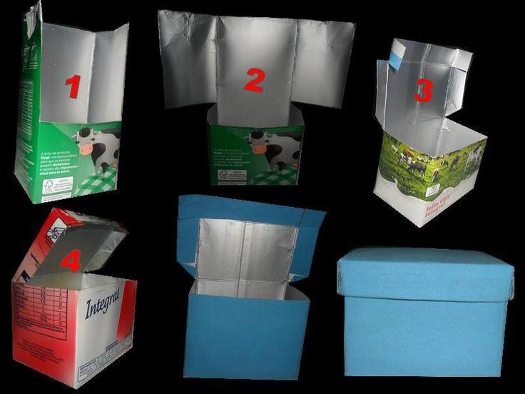 Fazer caixinha de lembrancinhas com caixa de leite