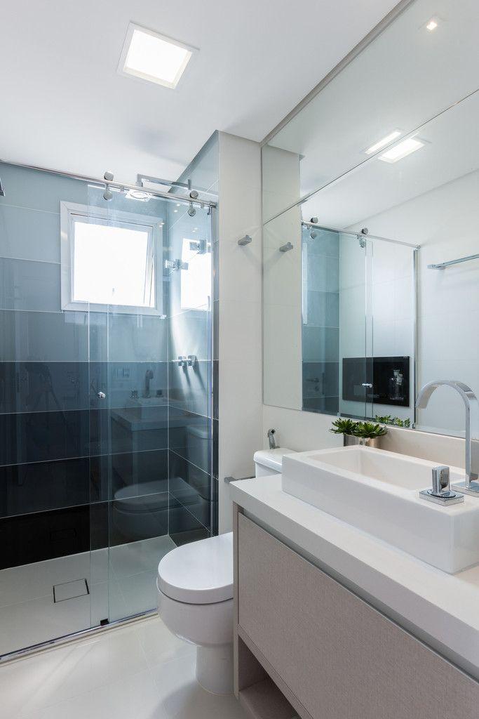 25+ melhores ideias sobre Banheiros Pequenos Modernos no Pinterest  Banheiro -> Banheiros Modernos Chuveiro