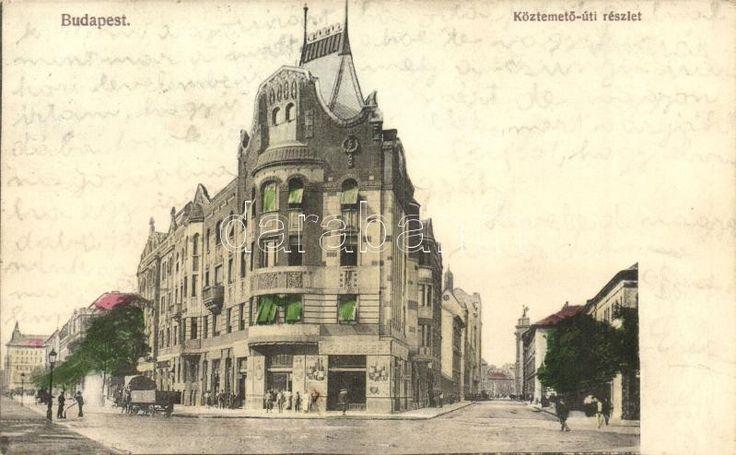 Budapest VIII. Köztemető (Fiumei) úti részlet, Fa József üzlete
