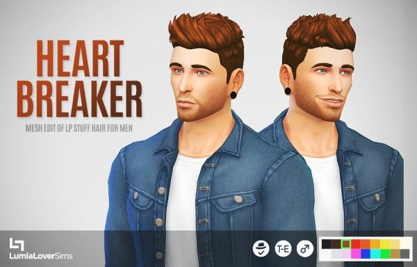 Lumia Lover Sims: Heartbreaker hairstyle • Sims 4 Downloads
