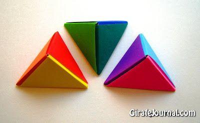 Оригами пирамида: видео инструкция