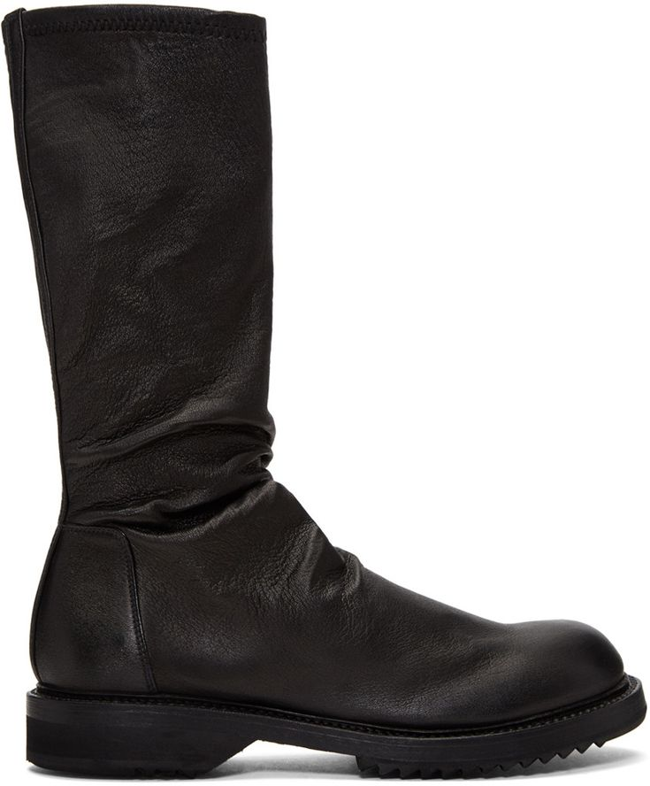 Rick Owens - Black Creeper Sock Boots
