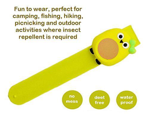 essencell cartoon natural mosquito repellent slap bracelet 2x repellent refills no spray