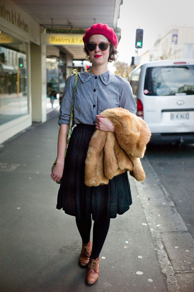 NZ STREET STYLE, FASHION BLOG, WALLACE CHAPMAN: 'She wore a Raspberry beret...'
