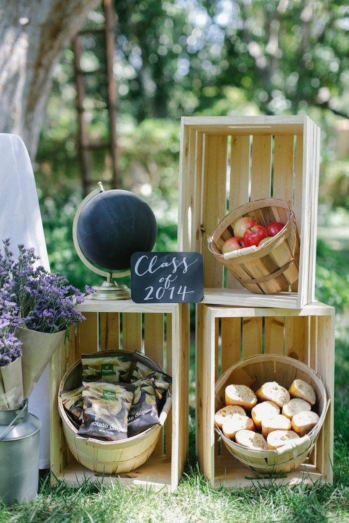 Farmers Market themed Graduation Party! The World Is Your Market! By Panera Catering on Kara's Party Ideas KarasPartyIdeas.com #graduationparty