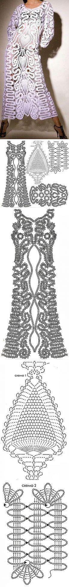 Rochie legate de tehnica de Bruges dantelă.