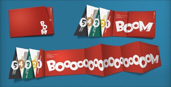 Boom Logo and Identity—love the foldout.