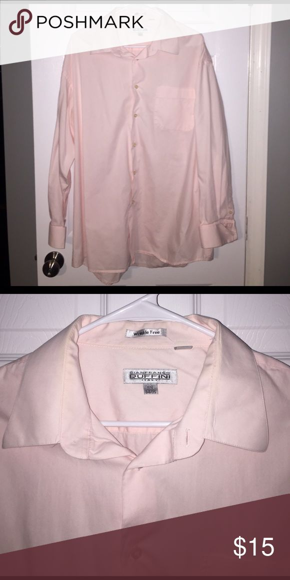 Gianfranco Ruffini Italy Pale Pink Dress Shirt Great condition! Wrinkle free. 100% cotton. 34/35 Gianfranco Ruffini Shirts Dress Shirts