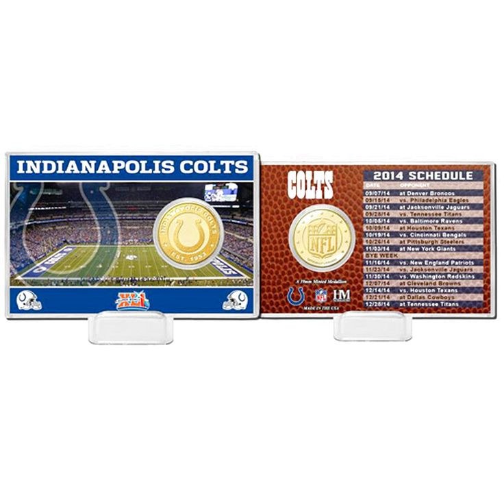 Indianapolis Colts Highland Mint Schedule Coin Card - $14.24
