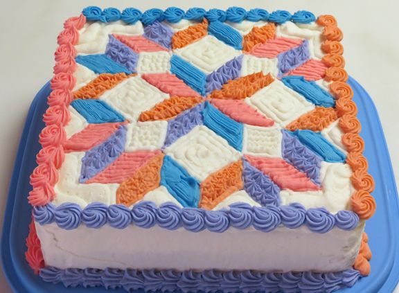 Cake Decorating Quilt Design : 17 Best images about 80th bday on Pinterest Patchwork ...