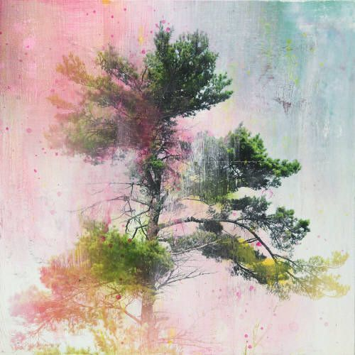 """Steven Nederveen LONG SUMMER HIKES / Canada House Gallery - mixed media, resin, panel 30"""" x 30"""""""