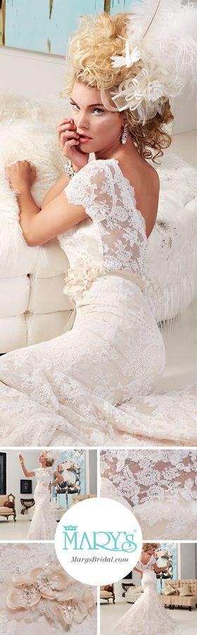 All over alencon lace wedding dress