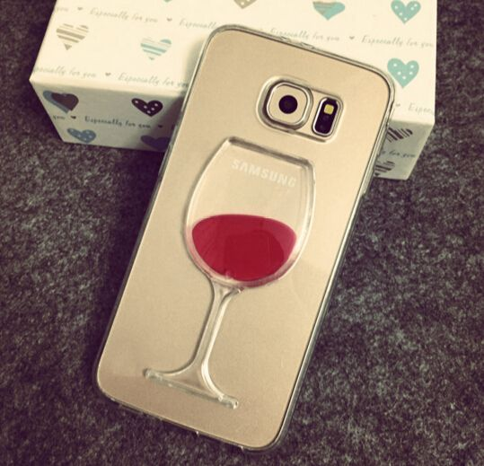 Samsung Galaxy S6 Liquid Red Wine Cup Case Cover - Cute Galaxy Note 3 Cases - Galaxy Note 3 Cases - Galaxy Note 5/4/3 Cases