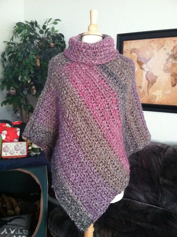 COZY COWL PONCHO — From: http://www.allfreecrochet. com/Poncho-Patterns/Cozy-Cowl-Poncho-Lion-Brand