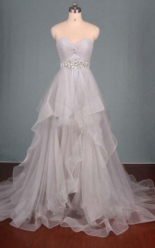 Charming Sweetheart Prom Dress, Tulle Ball Gown, Long