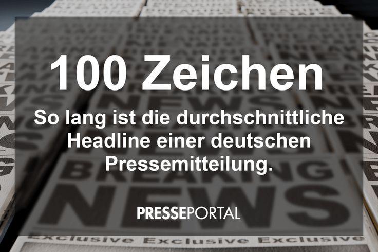 Durchschnittlich beträgt die Headline einer Pressemitteilung 100 Zeichen...  http://treibstoff.newsaktuell.de/100-zeichen-headline-pressemitteilung/?utm_campaign=treibstoff291116&utm_medium=email&utm_source=uk