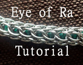 Items similar to Chain Tutorial - Ormlank (1 in 4 Half-Persian) Pattern - PDF on Etsy