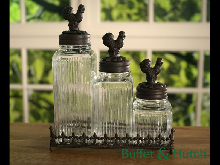 Iron and glass canisters. Now only $89!
